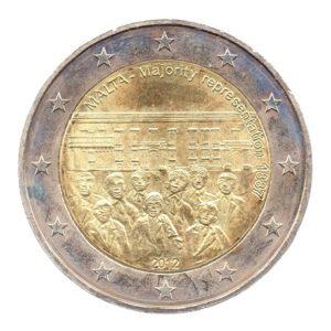 (EUR13.200.2012.COM2.spl.000000001) 2 euro commémorative Malte 2012 - Représentation majoritire 1887 Avers