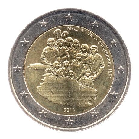 (EUR13.200.2013.COM1.spl.000000001) 2 euro commémorative Malte 2013 - Autonomie gouvernementale Avers