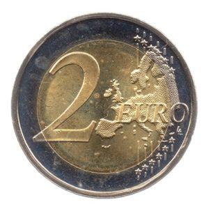 (EUR20.200.2015.COM1.spl.000000001) 2 euro commémorative Estonie 2015 - Drapeau européen Revers