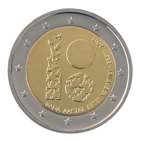 (EUR20.200.2018.COM2) 2 euro commémorative Estonie 2018 - République d'Estonie