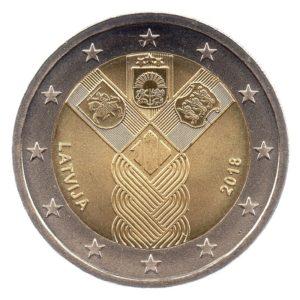 (EUR21.200.2018.COM1.spl.000000001) 2 euro commemorative coin Latvia 2018 - Baltic States Obverse (zoom)