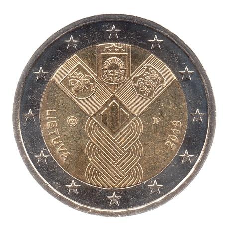 (EUR22.200.2018.COM1.spl.000000001) 2 euro commémorative Lituanie 2018 - Etats baltes Avers