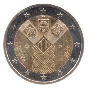 (EUR22.200.2018.COM1.spl.000000001) 2 euro commemorative coin Lithuania 2018 - Baltic States Obverse (zoom)
