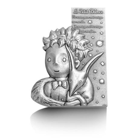 (FMED.Méd.MdP.Ag[]CuZn1) Médaille bronze florentin argenté - Le Petit Prince et le Renard Avers