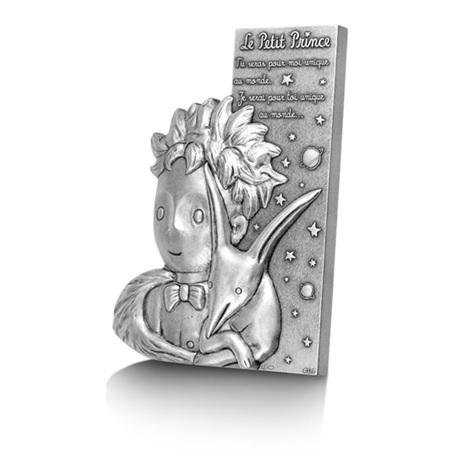 (FMED.Méd.MdP.Ag[]CuZn1) Médaille bronze florentin argenté - Le Petit Prince et le Renard (tranche)