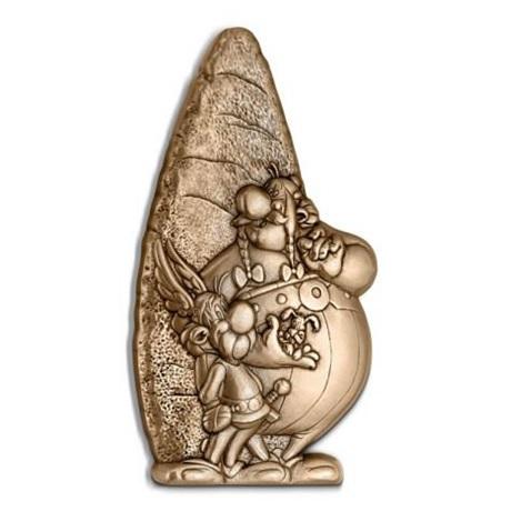 (FMED.Méd.MdP.CuZn-2.1) Médaille bronze florentin - Astérix, Obélix et Idéfix Avers