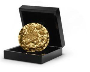 (FMED.Méd.MdP.n.d._2018_.Au[]CuZn1) Médaille bronze florentin doré - Garam Massala (écrin) (zoom)