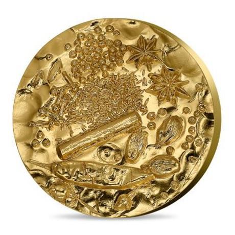 (FMED.Méd.MdP.n.d._2018_.Au[]CuZn1) Médaille bronze florentin doré - Garam Massala Avers