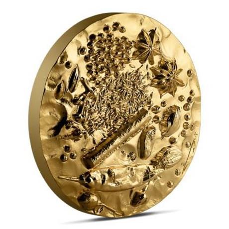 (FMED.Méd.MdP.n.d._2018_.Au[]CuZn1) Médaille bronze florentin doré - Garam Massala (tranche)