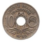 (FMO.010.1930.7.17.tb.000000001) 10 centimes Lindauer 1930 Revers