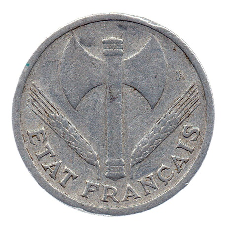 (FMO.1.1942.23.1.b.000000001) 1 Franc Francisque, lourde 1942 Avers