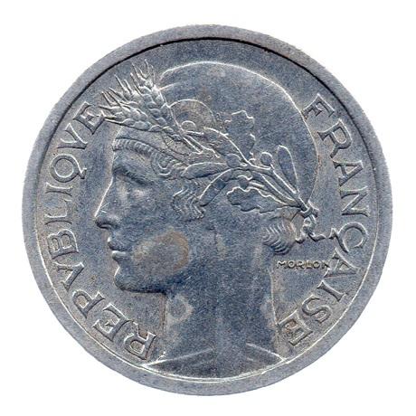 (FMO.1.1948_B.22.12.ttb+[]sup.000000001) 1 Franc Morlon, légère 1948 B Avers