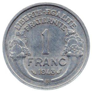 (FMO.1.1948_B.22.12.ttb+[]sup.000000001) 1 Franc Morlon, légère 1948 B Revers (zoom)