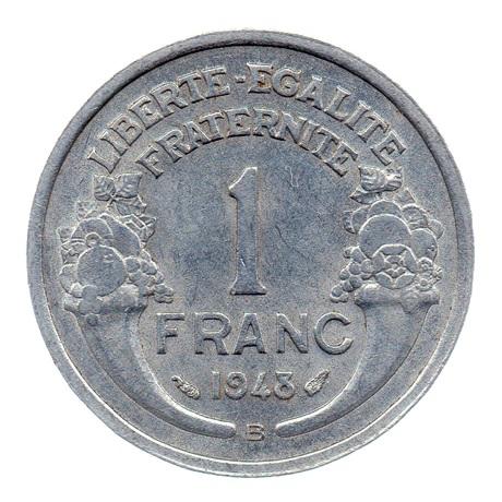 (FMO.1.1948_B.22.12.ttb+[]sup.000000001) 1 Franc Morlon, légère 1948 B Revers
