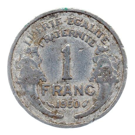 (FMO.1.1950.22.15.b.000000001) 1 Franc Morlon, légère 1950 Revers