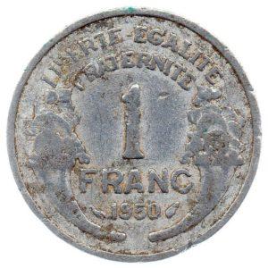 (FMO.1.1950.22.15.b.000000001) 1 Franc Morlon, light 1950 Reverse (zoom)