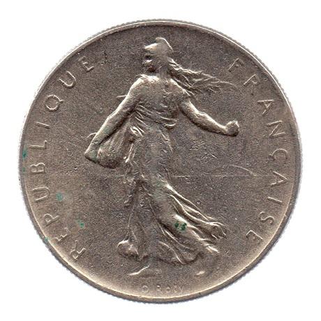(FMO.1.1964.27.5.tb.000000001) 1 Franc Semeuse 1964 Avers