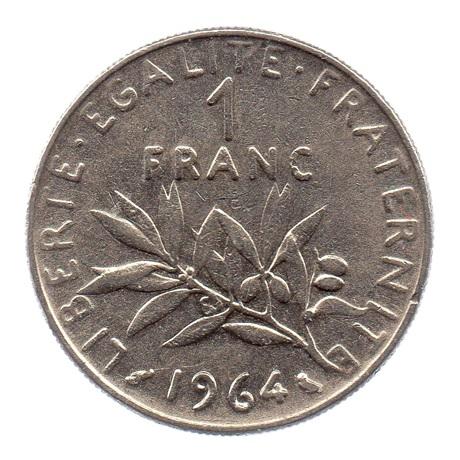 (FMO.1.1964.27.5.tb.000000001) 1 Franc Semeuse 1964 Revers