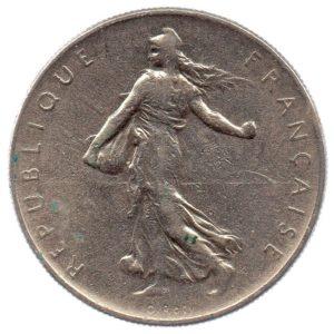 (FMO.1.1964.27.5.tb.000000001) 1 Franc Sower 1964 Obverse (zoom)