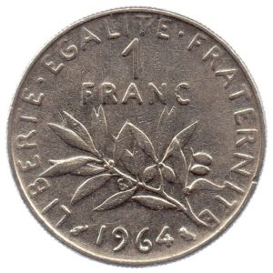 (FMO.1.1964.27.5.tb.000000001) 1 Franc Sower 1964 Reverse (zoom)