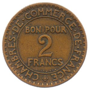 (FMO.2.1923.17.4.tb.000000001) 2 Francs Chambers of Commerce 1923 Reverse (zoom)