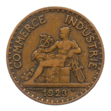 (FMO.2.1923.17.4.tb.000000001) 2 Francs Chambres de commerce 1923 Avers