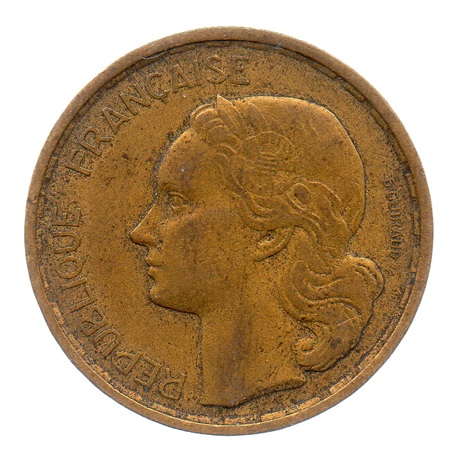 (FMO.20.1950_B.3.3.ttb.000000001) 20 Francs G. Guiraud 1950 B (4 faucilles) Avers
