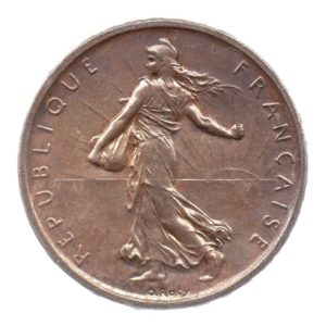 (FMO.5.1960.50.1.cp6.sup+[]spl.000000001) 5 Francs Semeuse 1960 Avers