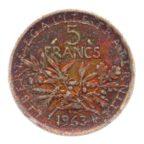 (FMO.5.1963.50.4.cp6.tb.000000001) 5 Francs Semeuse 1963 Revers