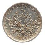 (FMO.5.1964.50.5.ttb.000000002) 5 Francs Semeuse 1964 Revers