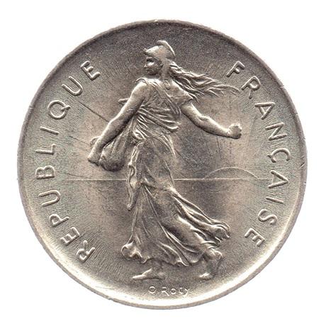 (FMO.5.1971.51.2.sup.000000001) 5 Francs Semeuse 1971 Avers