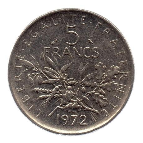 (FMO.5.1972.51.3.tb.000000002) 5 Francs Semeuse 1972 Revers