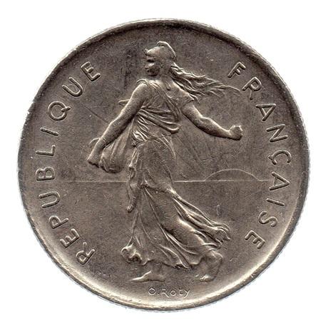 (FMO.5.1972.51.3.ttb.000000002) 5 Francs Semeuse 1972 Avers