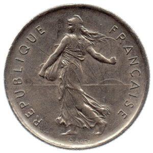 (FMO.5.1972.51.3.ttb.000000002) 5 Francs Sower 1972 Obverse (zoom)