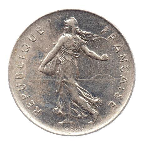 (FMO.5.1975.51.6.ttb.000000001) 5 Francs Semeuse 1975 Avers