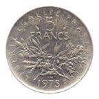 (FMO.5.1975.51.6.ttb.000000001) 5 Francs Semeuse 1975 Revers
