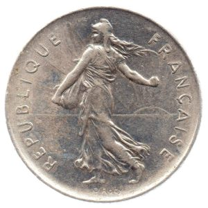 (FMO.5.1975.51.6.ttb.000000001) 5 Francs Sower 1975 Obverse (zoom)