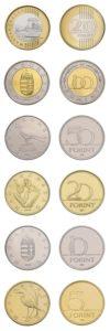 Les monnaies hongroises émises en 1993
