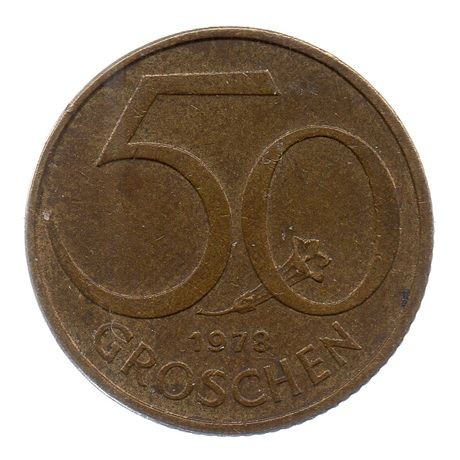 (W018.050.1978.1.ttb.000000001) 50 Groschen Ecu 1978 Revers