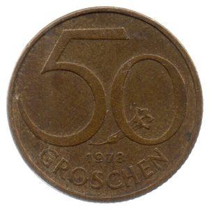 (W018.050.1978.1.ttb.000000001) 50 Groschen Shield 1978 Reverse (zoom)