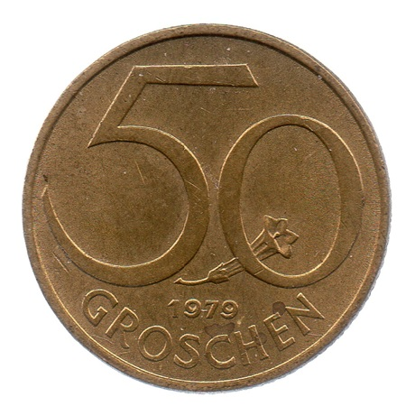 (W018.050.1979.1.ttb+[]sup.000000001) 50 Groschen Ecu 1979 Revers
