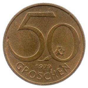 (W018.050.1979.1.ttb+[]sup.000000001) 50 Groschen Shield 1979 Reverse (zoom)