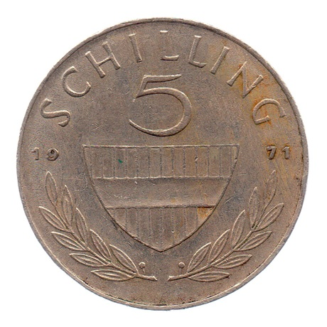 (W018.500.1971.1.ttb.000000001) 5 Schilling Cavalier 1971 Revers