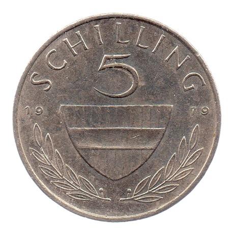 (W018.500.1979.1.ttb+[]sup.000000001) 5 Schilling Cavalier 1979 Revers