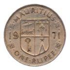 (W097.100.1971.1.tb[]ttb.000000001) 1 Rupee Armes de l'Ile Maurice 1971 Revers