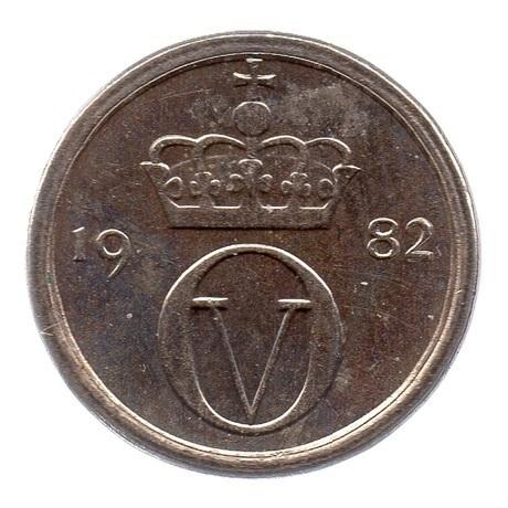 (W161.010.1982.1.sup.000000001) 10 Ore Monogramme d'Olav V 1982 Avers