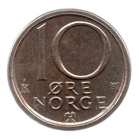 (W161.010.1982.1.sup.000000001) 10 Ore Monogramme d'Olav V 1982 Revers