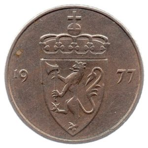 (W161.050.1977.1.ttb.000000001) 50 Ore Coat of arms of Norway 1977 Obverse (zoom)
