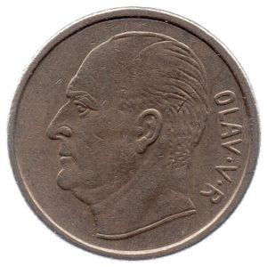 (W161.100.1970.1.ttb.000000001) 1 Krone King Olav V 1970 Obverse (zoom)