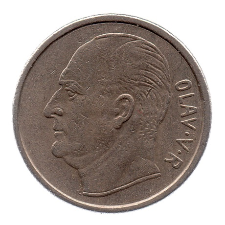 (W161.100.1970.1.ttb.000000001) 1 Krone Olav V 1970 Avers